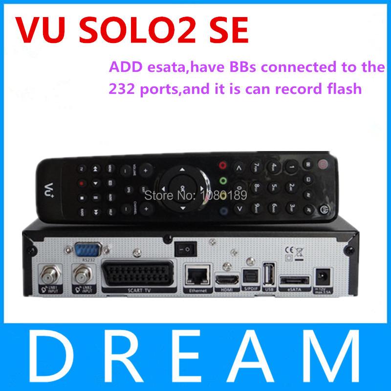2pcs vu solo 2 se twin tuner decoder dvb-s2 tuner STB vu solo2 se hd Linux OS Digital satellite tv receiver DHL free shipping(China (Mainland))