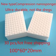 30 pcs/lot Compression nanosponges White Magic Sponge Eraser Melamine Cleaner,multi-functional Cleaning 100x60x20mm Wholesale(China (Mainland))