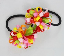 Buy TS New 2015 Ribbon Bow Hair Tie Rope Hair Band Colorfully Boutique Bows Elastic Hair band girl woman hair Accessories for $1.26 in AliExpress store