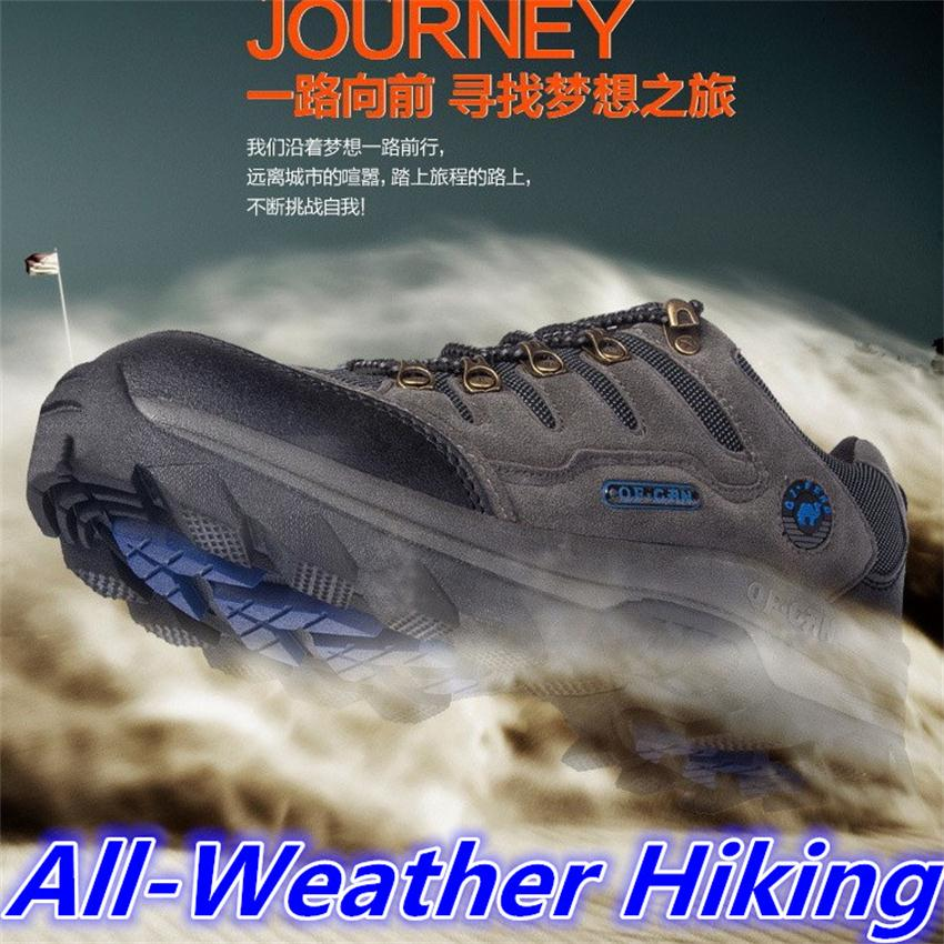 Outdoor <font><b>hiking</b></font> athletic <font><b>shoes</b></font> men women trekking casual outventure travel hunting breathable leather <font><b>shoes</b></font> ankle boots big size