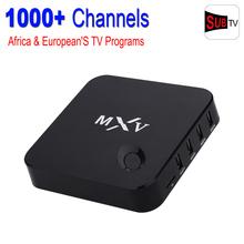 MXV Smart Tv Caja Androide 4.4 Amlogic S805 IPTV Caja Europea 1000 + HD Canales Francés Albanés Español Portugal Sky Italia Tv Box
