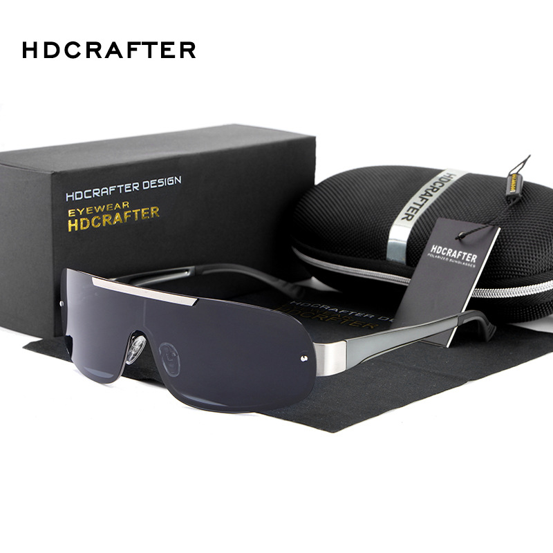 2016 HDCRAFTER Driving Polarized Goggle One Lenses Glasses Driving Sports Outdoor Sunglasses Free Shipping With Case(China (Mainland))