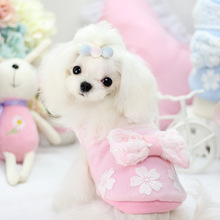 Buy Cute princess small dog pet cat lace bow cotton padded Coat jacket clothes winter warm fleece dog hoodie clothing chihuahua for $8.88 in AliExpress store