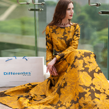 Buy S- 3XL Vintage Printed Flowers Autumn Maxi Dress Plus Size Women Clothing Muslim Long Sleeve Party Dresses High Robe for $66.39 in AliExpress store