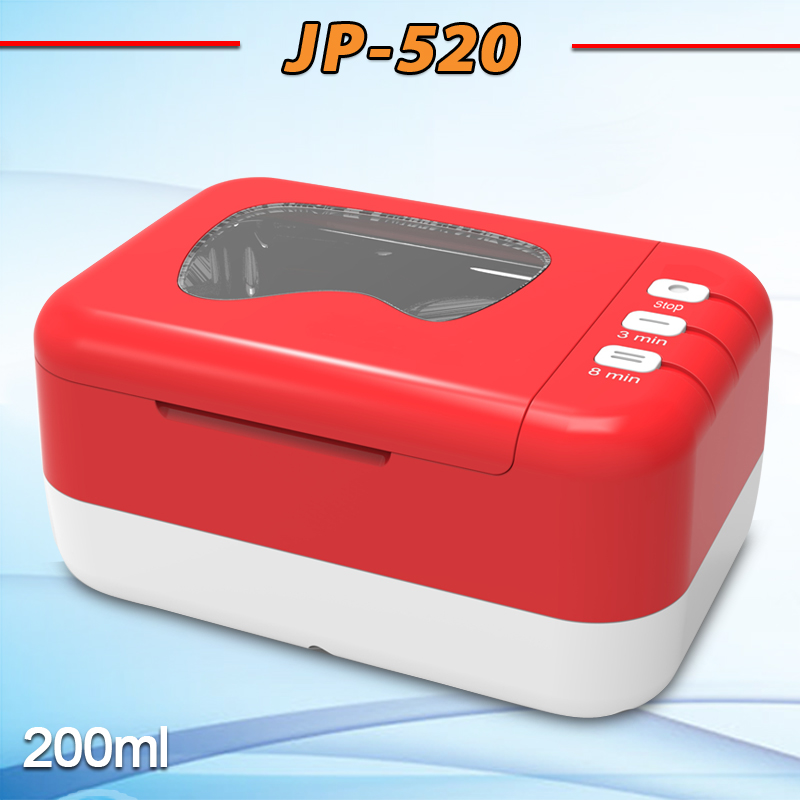 110V/220V Portable special denture cleaning sterilizer With Rechargable Battery denture ultrasonic cleaner JP-520(China (Mainland))