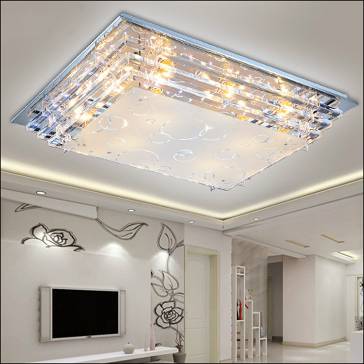 Modern Minimalist Ceiling Light E27crystal Led Ceiling Light For Living Room Diningroom Led