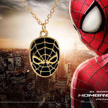 Europe 2016 new simple personalized jewelry new Spiderman movie spider mask pendant necklace