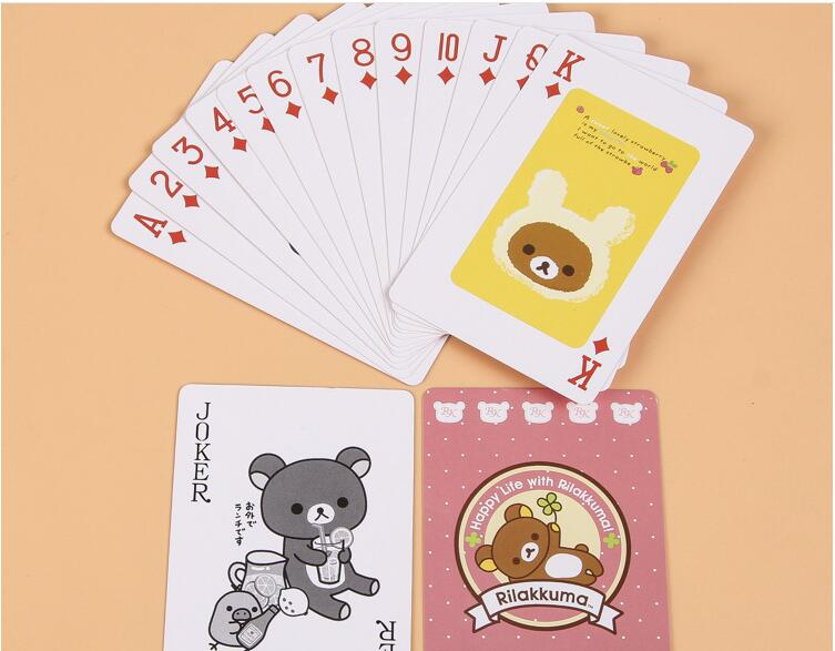 Cartoon Children Playing Cards Advertising Paper Poker Card(China (Mainland))