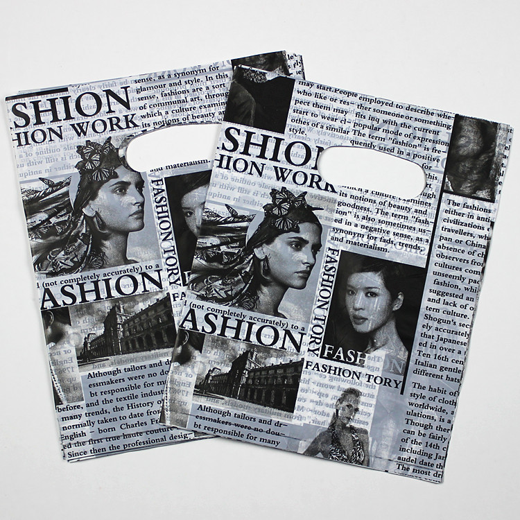 like news paper 2014 style Plastic bags Free ship 10 30X40cm Fit clothes packing shopping - Custom Print Expert store