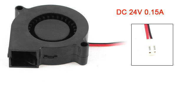 2 Pin Connector Brushless DC 24V 0.15A Turbo Blower Cooling Fan(China (Mainland))