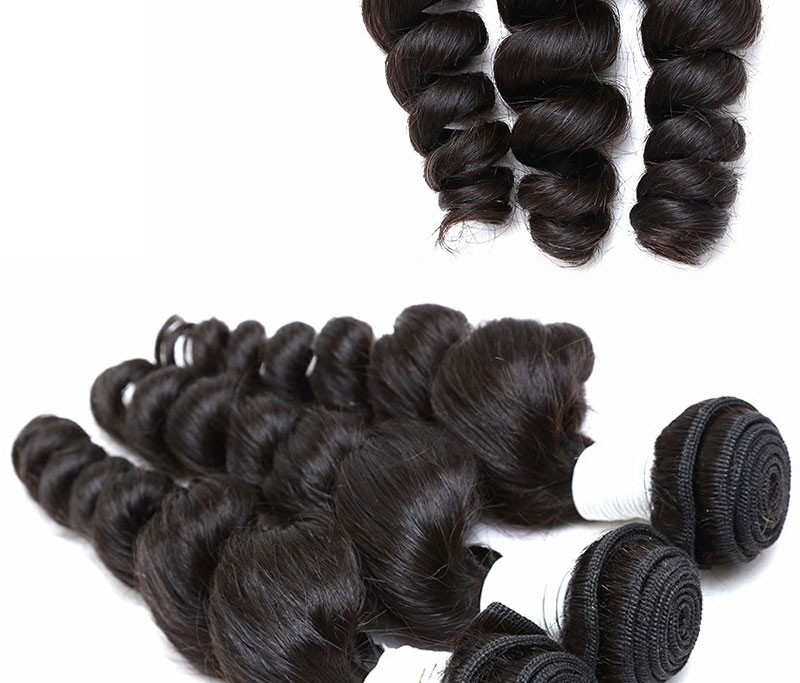 Peruvian Virgin Hair Loose Wave With Closure 3 Bundles with Lace Closure Kings Hair Factory 8A Peruvian Loose Wave Human Hair