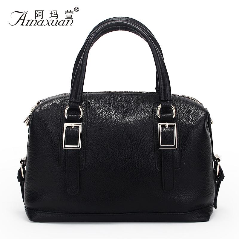 Hot Sale 2015 Women Shoulder Bags Genuine Leather Vintage Messenger Bags Motorcycle Shoulder Bags Fashion Women Bag Bolsa BH1169<br><br>Aliexpress