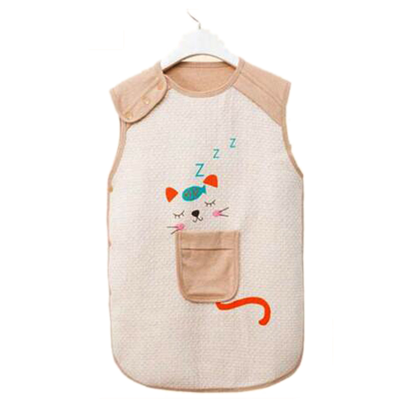 Baby Thin Sleeping Bag For Summer baby Sleep Bag Cotton infant Clothes style sleeping bagsshort-sleeved Romper for 0-4 Years(China (Mainland))