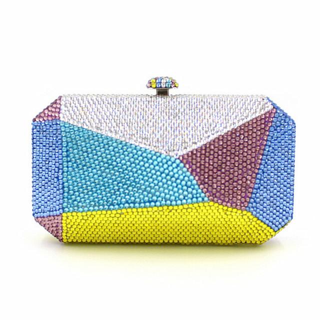 2016 Новый бренд Выпускного Вечера партии женщин элегантный день Сцепления Геометрический дизайн бумажник новинка lady diamond повседневная вечерняя сумочка Горячие продажа