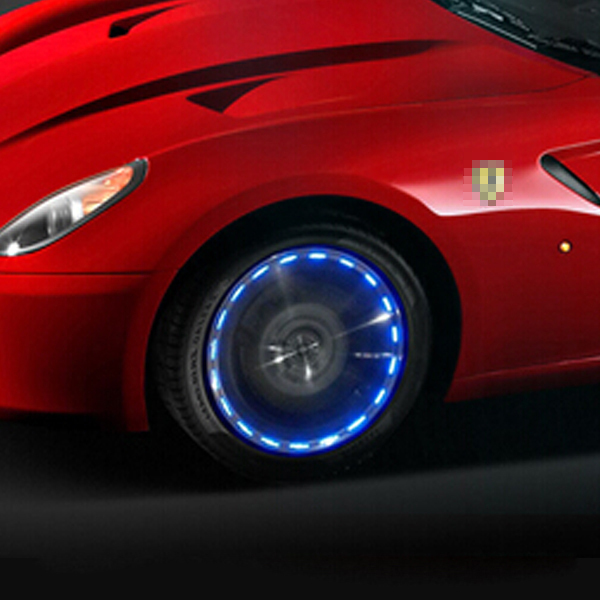 Solar Energy Auto Wheels Flash Light Car Tyre Valve Cap Light Lamp RGB Color(China (Mainland))