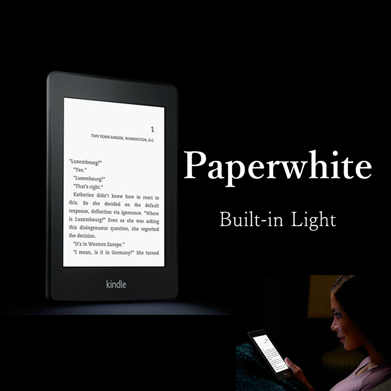 Hot sale! kindle paperwhite one built-in light wifi e book reader ebook ink touch e ink book backlit 2GB cover gift