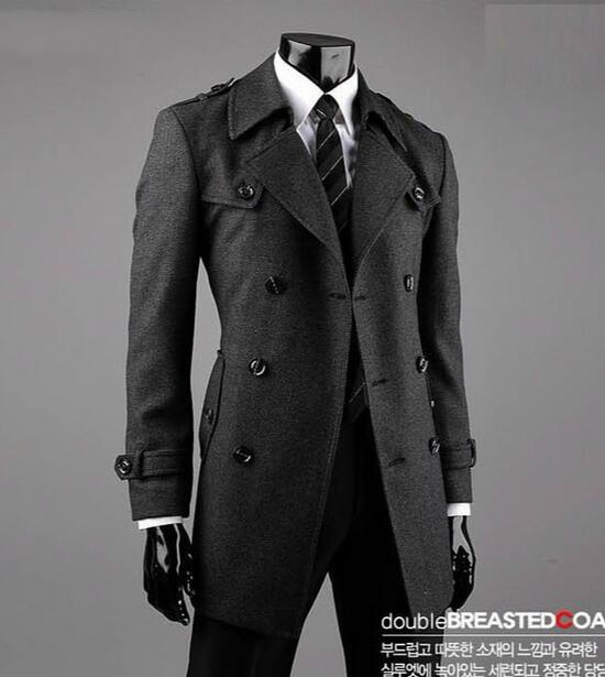 High Quality Mens Grey Wool Pea Coat Promotion-Shop for High