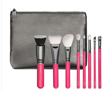 NEW Zoeva Pink Elements Classic Set 8 pcs makeup brushes Makeup beauty kit tools brush with bag free shipping(China (Mainland))