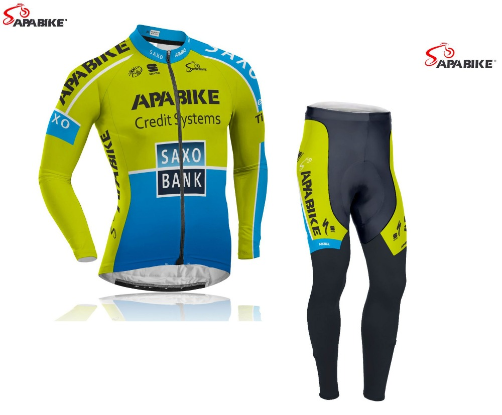 Thermal Fleece Jersey Winter Cycling Clothes Breathable Long Sleeves Bike Wear for Men Warm Cycling Jersey <br><br>Aliexpress