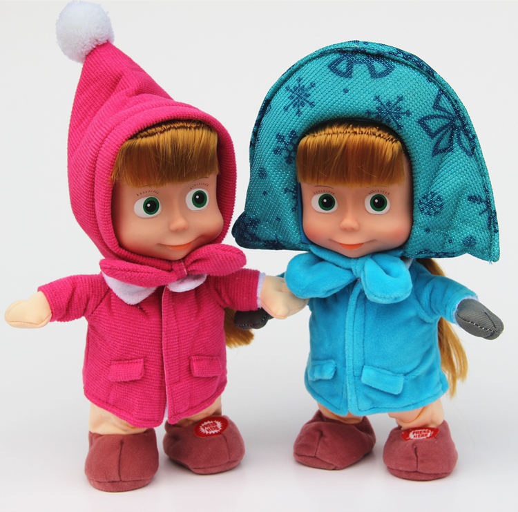 Retail hot selling in Russia and Ukraine Masha and Bear speaker repeats words moving and musical Masha doll toy gif(China (Mainland))