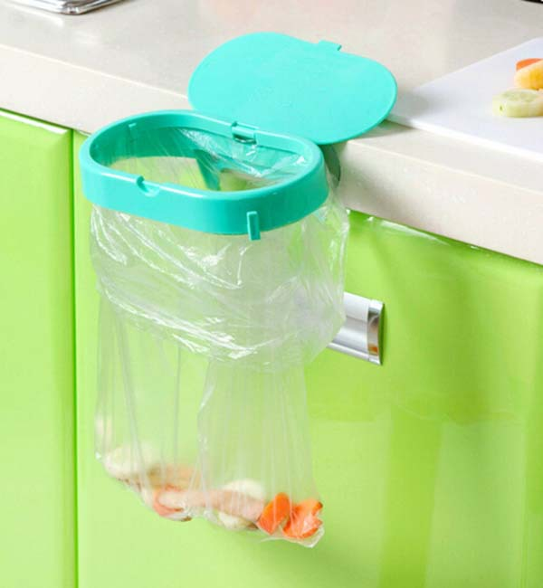 Free shipping strong suction cup clamshell garbage bags fixed shelving, home portable kitchen sink storage rack KF187(China (Mainland))