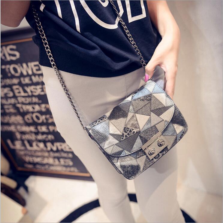 2016 New arrive women bag designer for Women messenger bags fashion CONTRAST COLOR simple cross body bag(China (Mainland))