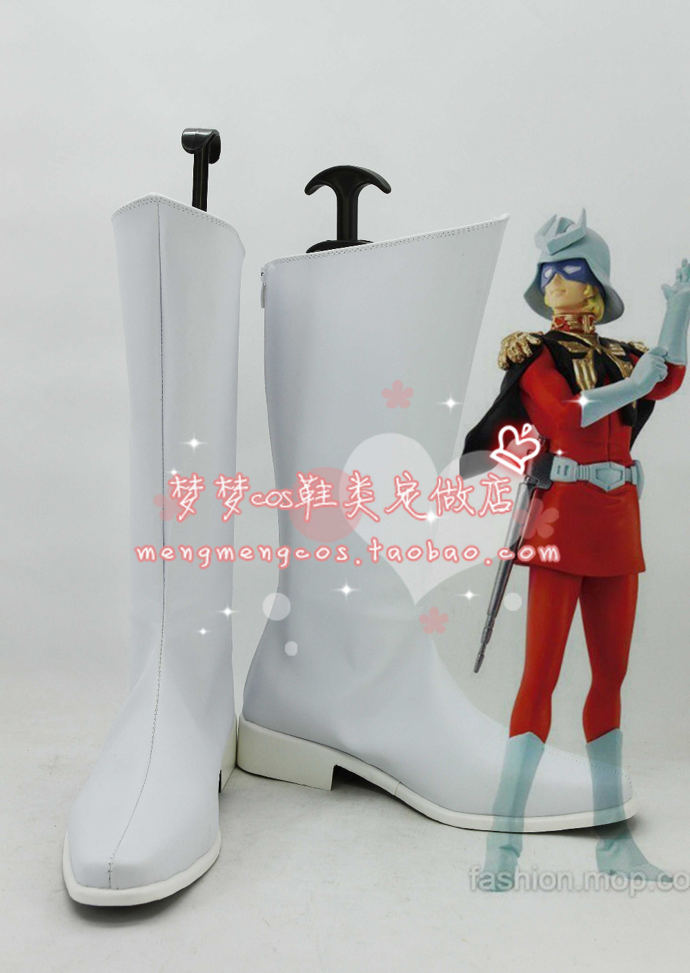 MOBILE SUIT font b GUNDAM b font Cosplay Shoes Char Aznable Japan Anime Party Boots Tailor