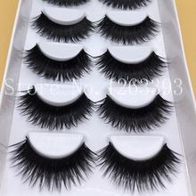 Hot Saleing False EyeLashes 1 Box 6 Pairs Thick Black False Eyelashes Makeup Tips Natural Smoky Makeup Long Fake Eye Lashes(China (Mainland))