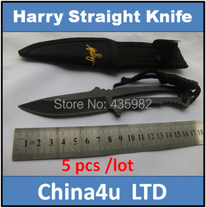 5 pcs/ lot Pocket Knife Tactical straight Survival Outdoor Hunting Camping Combat tools letter opener - Cina4U Kinfe store