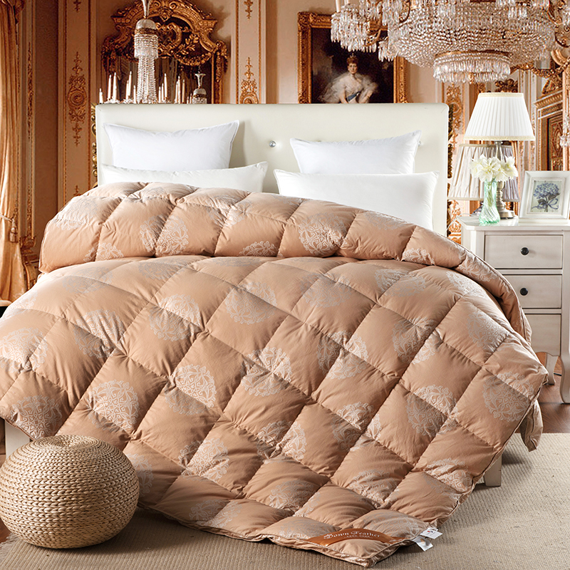 Brown down comforter promotion achetez des brown down comforter promotionnels - Couette oie ou canard ...
