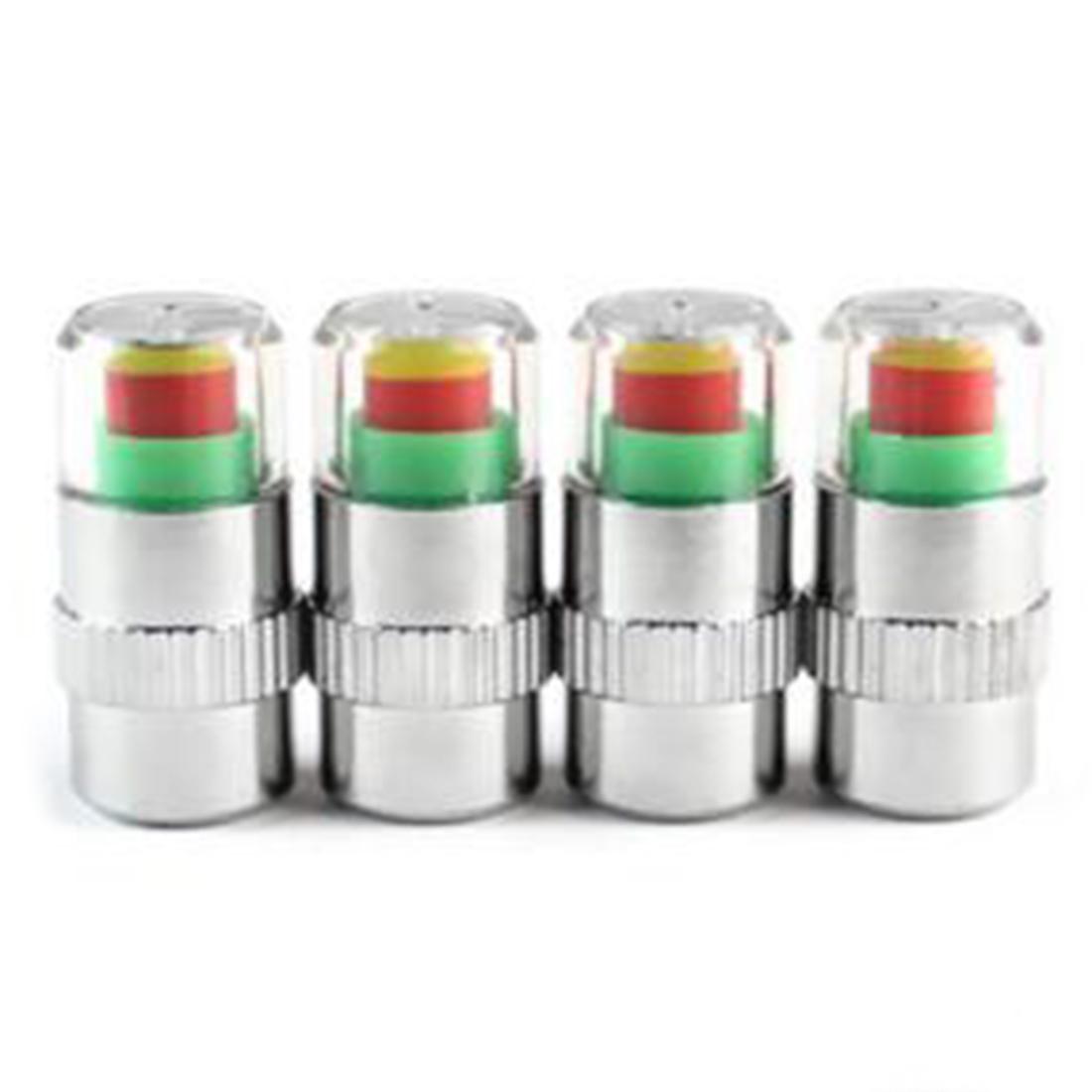 New Sale 4 pcs 2.4Bar (36PSI) Auto Air Pressure Alert Indicator Valve Stem Monitor Sensor Caps Car Free Shipping(China (Mainland))
