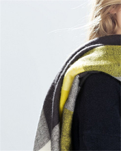 Winter 2015 Tartan Scarf Yellow and Gray Plaid Scarf Women Blanket Oversized Wrap Shawl Cozy Square Imitated cashmere
