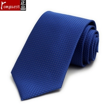 Romguest male dress tie Sapphire blue floral business ties Nano waterproof gift boxes No sales