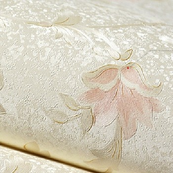 Girls Bedroom Embossed Contact Wallpaper Nature Pink Classic Flower Photo Background Wall paper Roll Wallcovering Home Decor