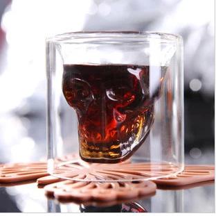 Doomed Crystal Skull Shot Glass Crystal Skull Head Vodka Shot Wine Glass Novelty Cup(China (Mainland))