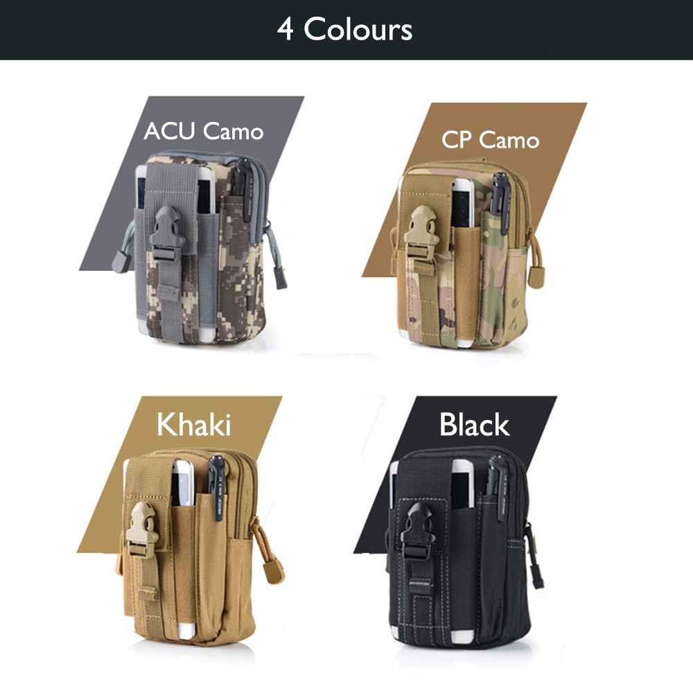 Outdoor Army Tactical Waist Belt Phone Molle Bag Case for iPhone se/5/6s/plus/LG g5/g4/g3/Xiaomi mi5/Meizu mx5/m3 note/Oneplus 3
