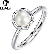 Стерлингового Серебра 925 Кольцо Stackable Pearl Кольца для Женщин Обручальное Кольцо Обручальное Кольцо Совместимость с Ювелирные Изделия Стерлингового Серебра(China (Mainland))