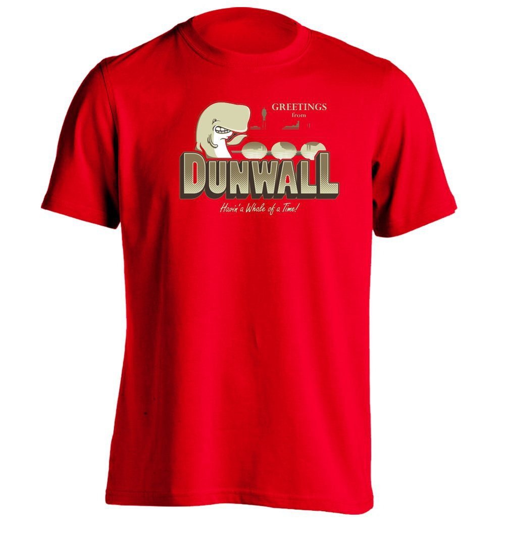 2015 Top Promotion Print No Short O-neck Novelty Cotton Greetings From Dunwall - Mens Custom T Shirt Printing Tee(China (Mainland))