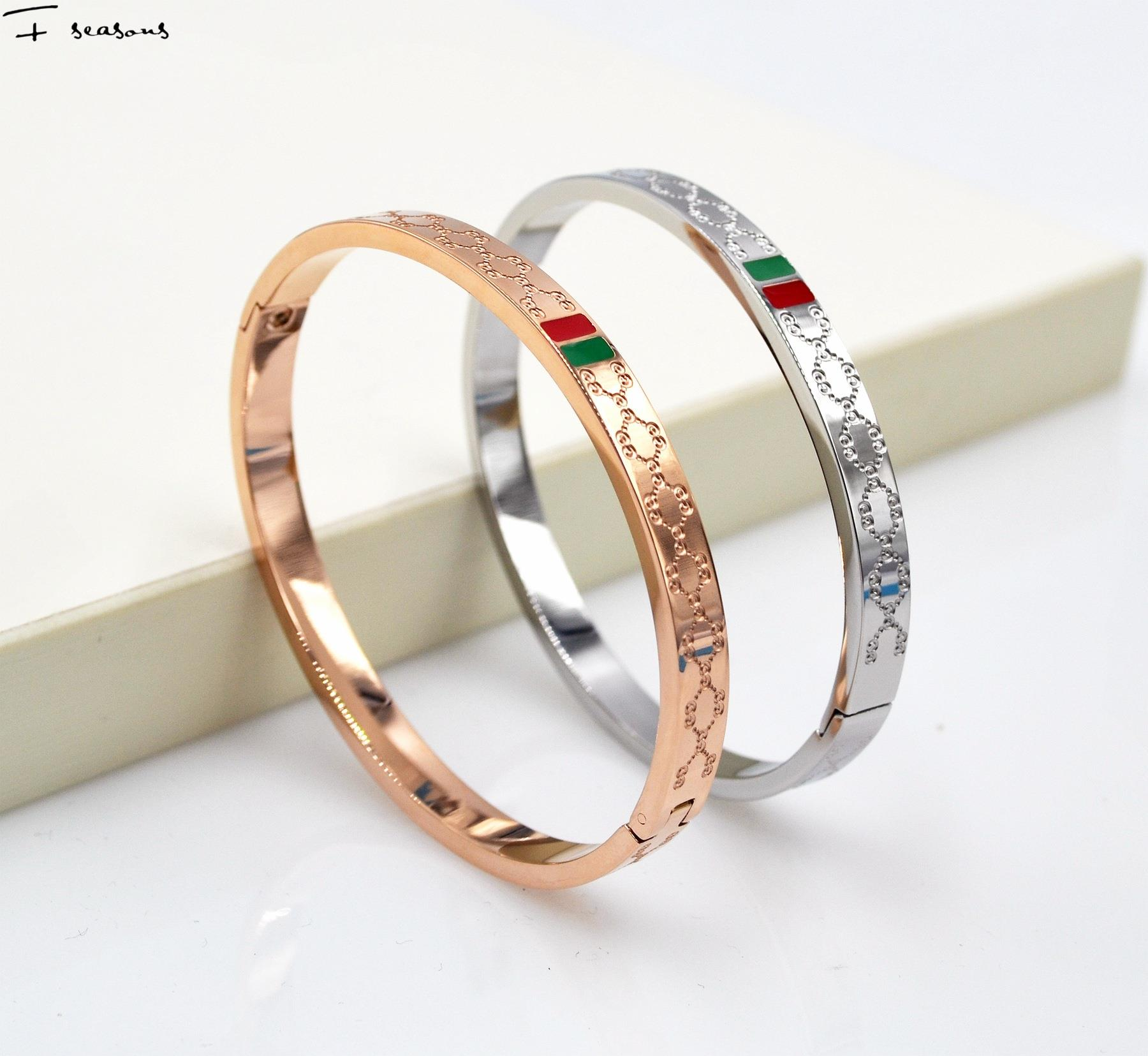 The new high-quality selling wholesale special offer exquisite fashion new Korean G titanium rose gold bracelet female models(China (Mainland))