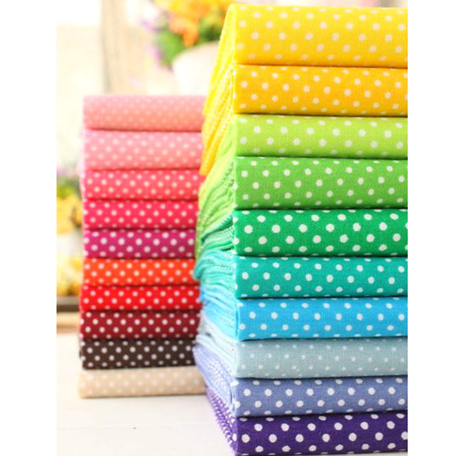 Buy 20 color 50 50 multicolor polka dot for Fabric sellers