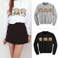 Women Hoodies Long Sleeve O Neck Women Sweatshirt 3D emoji printed Women Clothing Fleece Hoodie Plus