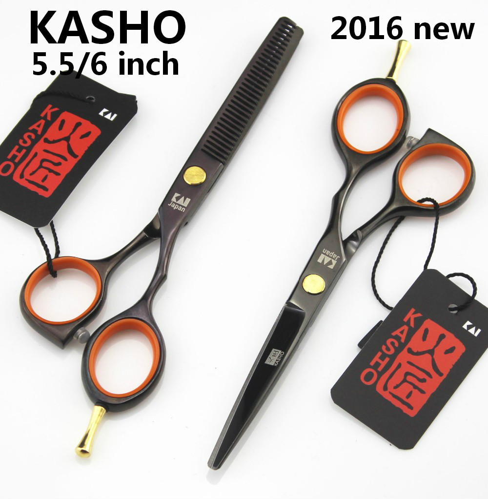 Japan KASHO Professional 5.5/6 inch hair scissors set hairdressing barber cutting thinning - Shenzhen Sunshine trading Co., Ltd. store