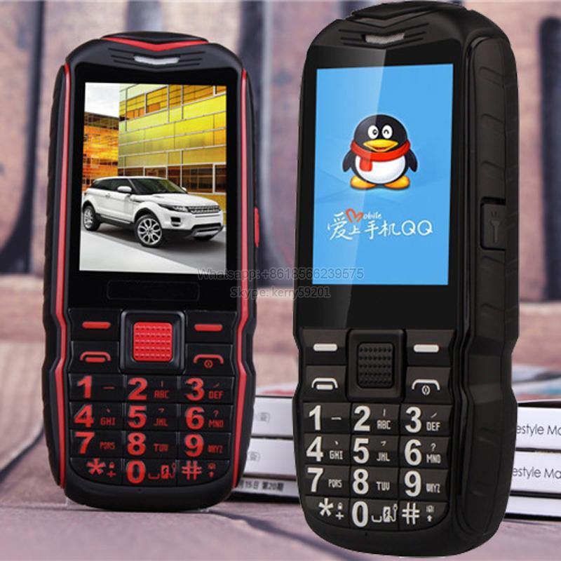 5800mAh Turkish Arabic Russian Rugged Phone Vibration Flashlight Shockproof Dual SIM Big voice FM Power Bank Phone T39 P035(China (Mainland))
