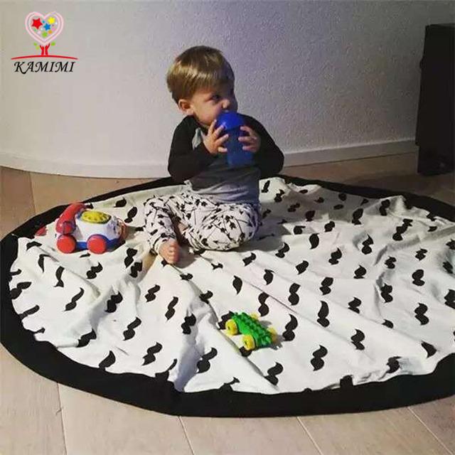 KAMIIMI Ребенок игры одеяло Игрушки Для Хранения Холст Мешки Детская Комната Украшения ...