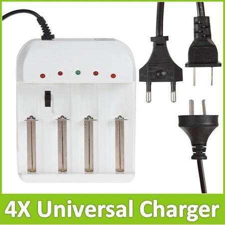 Adjustable 4 Slots Universal Battery Charger With US EU AC Plug For 4X 18650 26650 AA
