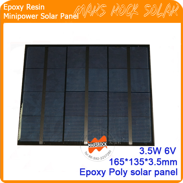 3.5W 6V 165*135mm  Top Point PoLycrystalline Small Power Epoxy Resin Solar Panel<br><br>Aliexpress