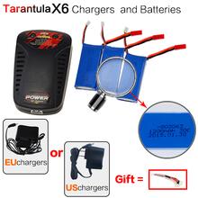 YIZHAN Tarantula X6 JJRC H16 Spare part RC Quadcopter 3x 7.4V 1200mAh Batteries + EU/US Plug balance Charger drone accessories