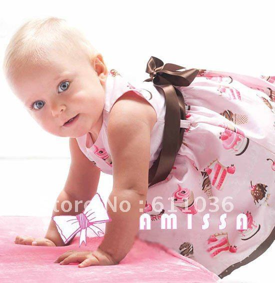 hot freeshipping 5 pcs/lot 2012 new lovely cake baby dress baby rompers,infant garment,baby wear,clothing children