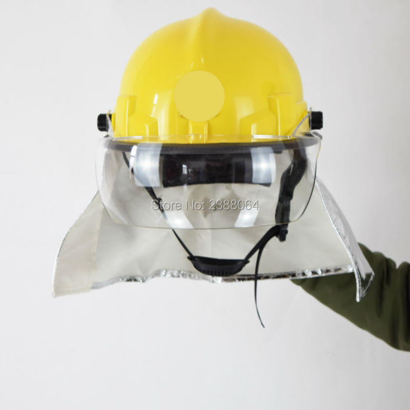 Free Shipping Can Resistant 300 Degree PEI Anti Fire Fire Fighting Safety Helmet For Fireman(China (Mainland))
