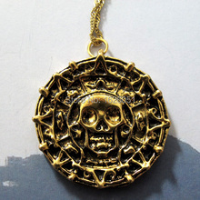Pirates of the Caribbean Necklace Man eskitme kolye Aztec Skull Pendant Necklace Collares Mujer Man Jewelry